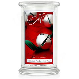 Velká vonná svíčka ve skle Jingle all the way 624g