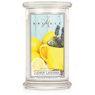 Kringle Candle  Velká vonná svíčka ve skle Lemon Lavender 624g