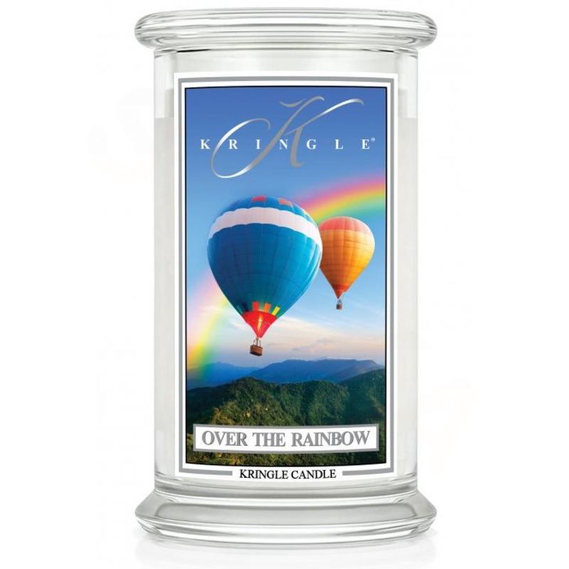 Kringle Candle  Velká vonná svíčka ve skle Over the Rainbow 624g