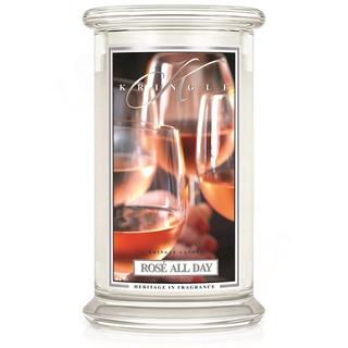 Kringle Candle  Velká vonná svíčka ve skle Rosé all day 624g
