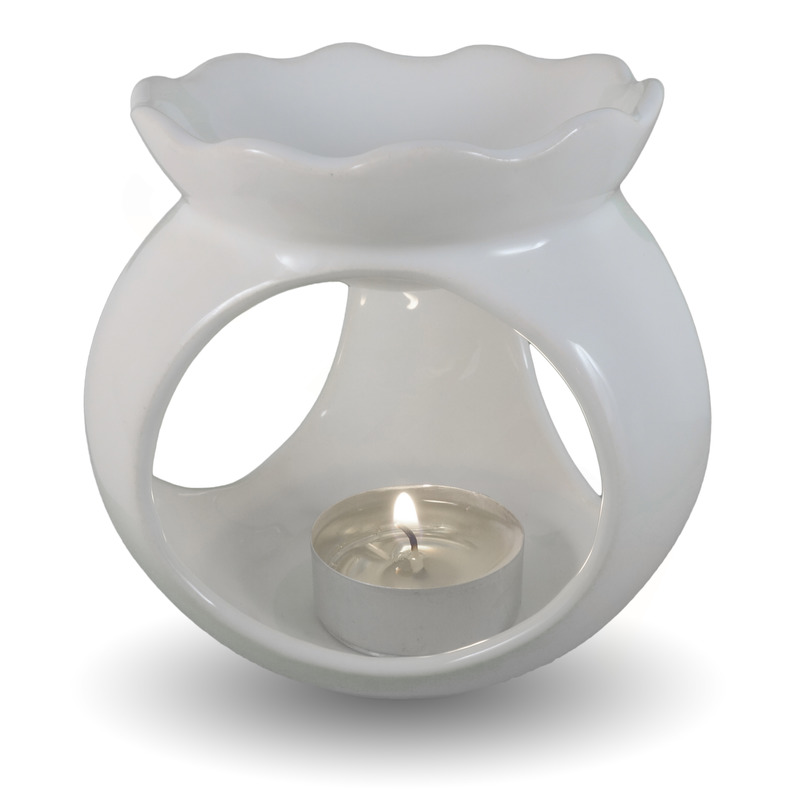 IM Ateliér Vyřezávaná keramická aromalampa