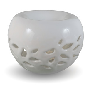 IM Ateliér Designová keramická aromalampa - lístečky