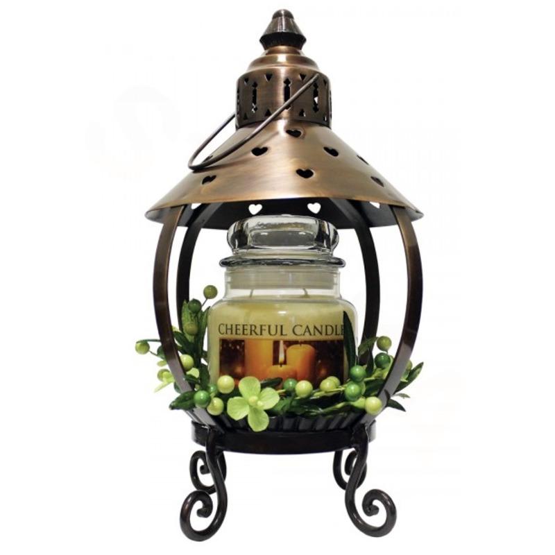 Cheerful Giver Měděná lucerna na svíčku - srdce