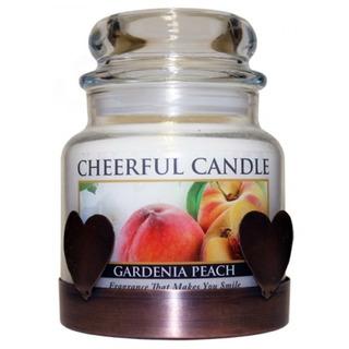 Cheerful Giver Měděný nízký stojan na svíčku - srdce