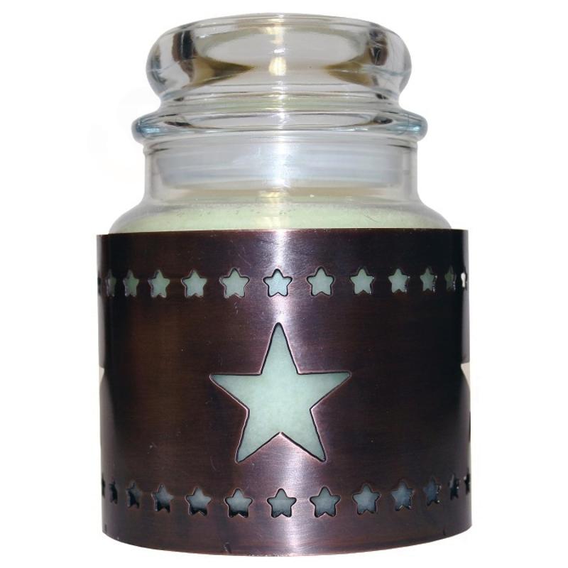Cheerful Giver Měděný stojan na svíčku - hvězda