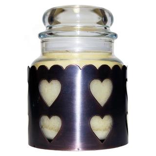 Cheerful Giver Měděný stojan na svíčku - srdce