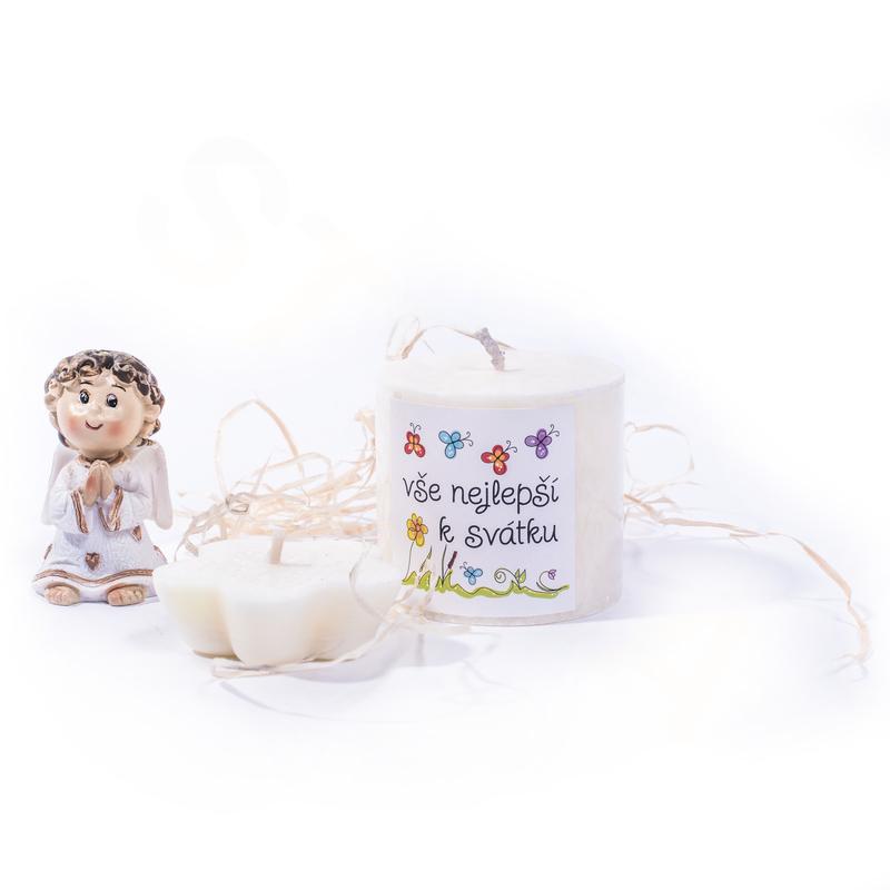 Ostatní Dárková sada Vše nejlepší k svátku - květ bavlny