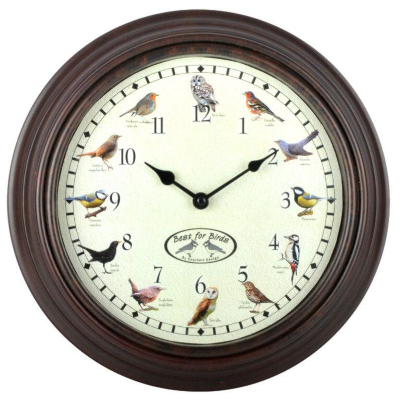 Ostatní Nástěnné hodiny s ptačím zpěvem