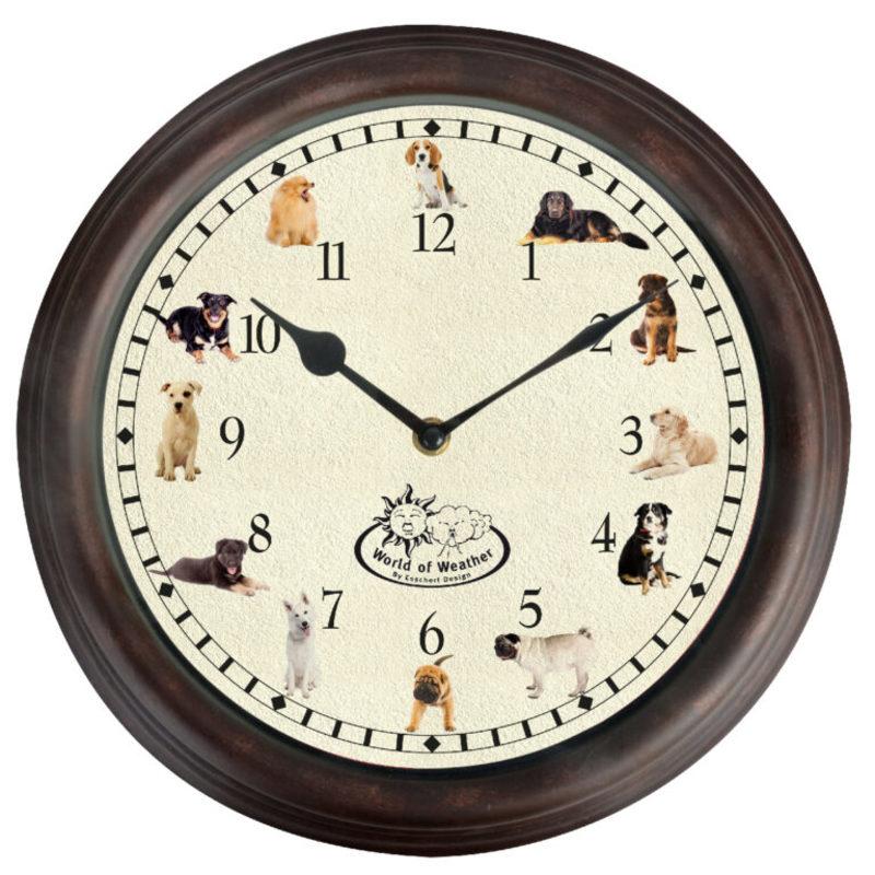 Ostatní Nástěnné hodiny se psími zvuky