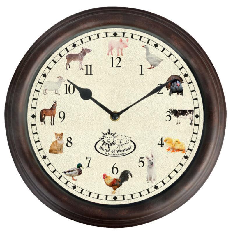 Ostatní Nástěnné hodiny se zvuky farmářských zvířátek
