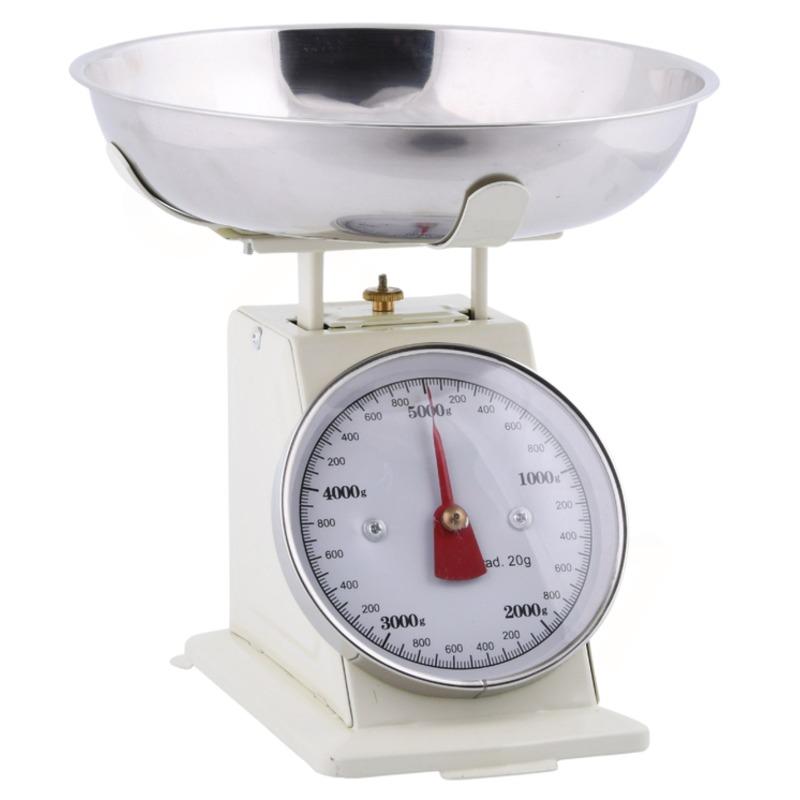 Secrets du Potager C2100 retro krémová kuchyňská váha