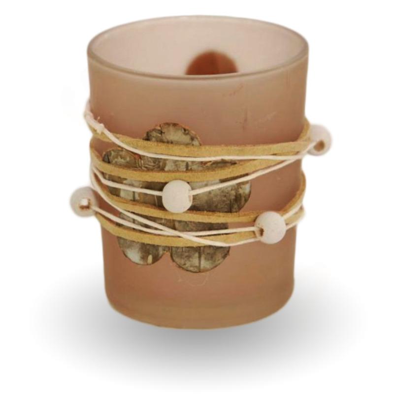 Bridgewater Candle Skleněný svícen na votivní svíčku - hnědý