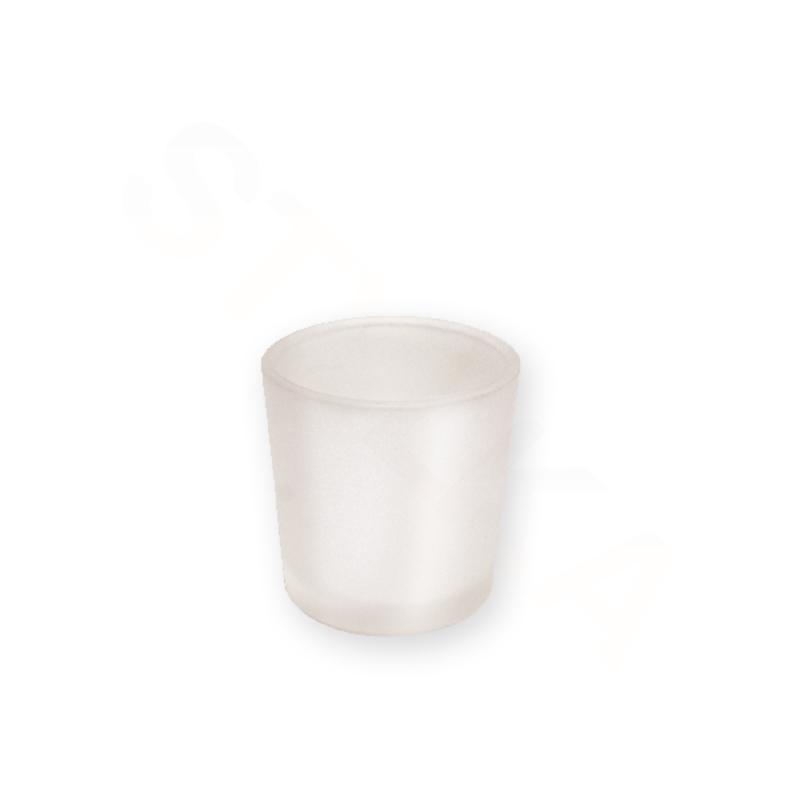 Price's Candle Skleněný svícen na votivní svíčku - mléčný