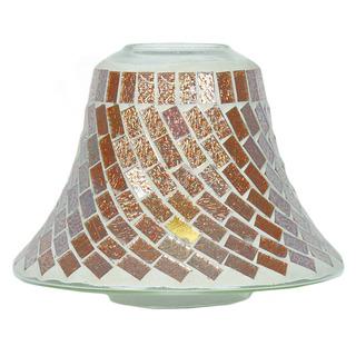 Village Candle Skleněné dekorační stínítko na svíčku Gold Foil Swirl
