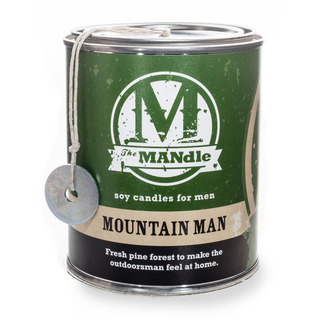 Eco Candle Company The MANdle vonná svíčka v plechu Mountain Man 425g - Horal