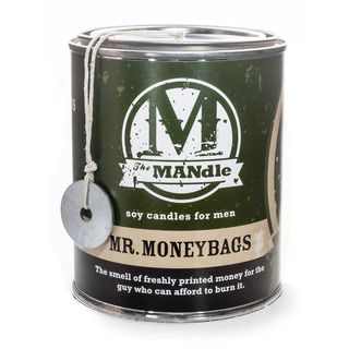 Eco Candle Company The MANdle vonná svíčka v plechu Mr. Moneybags 425g - Pan pracháč