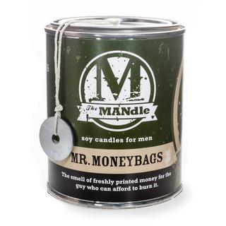 The MANdle vonná svíčka v plechu Mr. Moneybags 425g - Pan pracháč