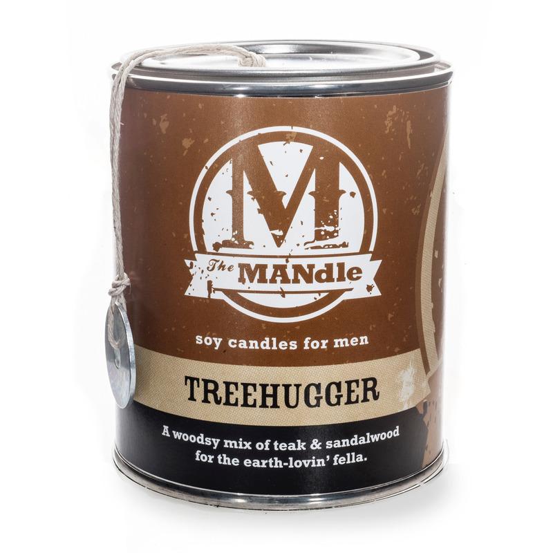 Eco Candle Company The MANdle vonná svíčka v plechu Treehugger 425g - Objímač stromů