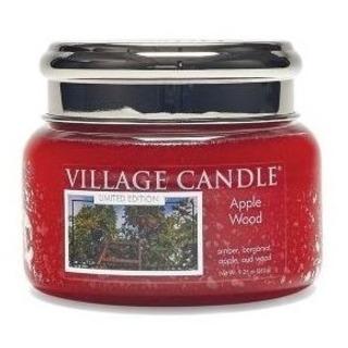 Village Candle Malá vonná svíčka ve skle Apple Wood 262g - Jabloňové dřevo
