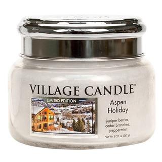 Village Candle Malá vonná svíčka ve skle Aspen Holiday 262g - Sváteční Aspen