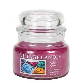 Village Candle Malá vonná svíčka ve skle Autumn Colors 262g - Barvy podzimu