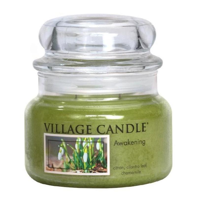 Village Candle Střední vonná svíčka ve skle Awakening 262g - Jarni probuzení