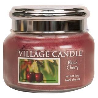 Village Candle Malá vonná svíčka ve skle Black Cherry 262g - Černá třešeň