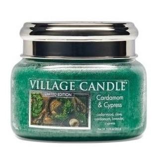 Village Candle Malá vonná svíčka ve skle Cardamom and Cypress 262g - Kardamon a cypřiš