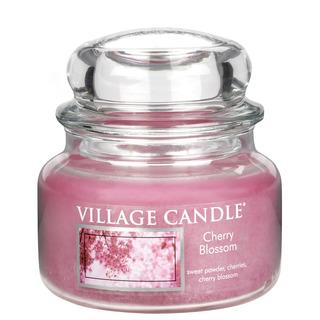 Village Candle Malá vonná svíčka ve skle Cherry Blossom 262g - Třešňový květ