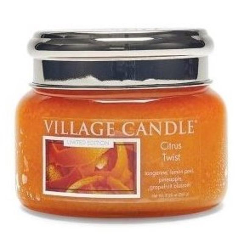 Village Candle Malá vonná svíčka ve skle Citrus Twist 262g - Citrusové osvěžení
