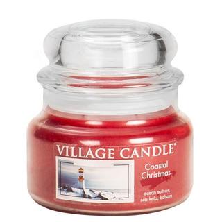 Village Candle Malá vonná svíčka ve skle Coastal Christmas 262g - Vánoce v přístavu
