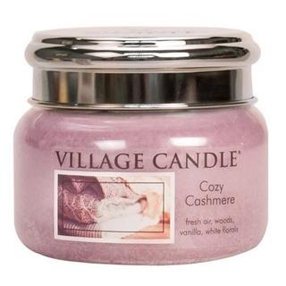 Village Candle Malá vonná svíčka ve skle Cozy Cashmere 262g - Kašmírové pohlazení