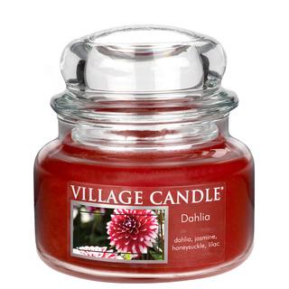 Village Candle Malá vonná svíčka ve skle Dahlia 262g - Jiřina