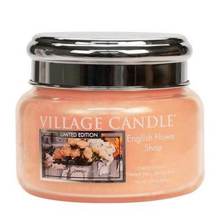 Village Candle Malá vonná svíčka ve skle English Flower Shop 262g - Anglické květiny