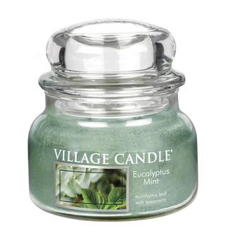 Village Candle Malá vonná svíčka ve skle Eucalyptus Mint 262g - Eukalyptus a máta