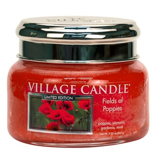 Village Candle Malá vonná svíčka ve skle Fields of poppies 262g