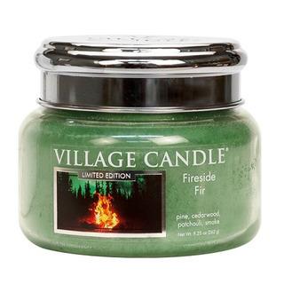 Village Candle Malá vonná svíčka ve skle Fireside Fir 262g - Táborák z jedlí