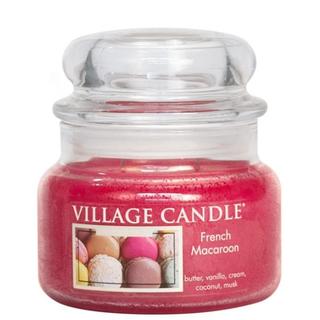 Village Candle Malá vonná svíčka ve skle French Macaroon 262g - Francouzské makronky