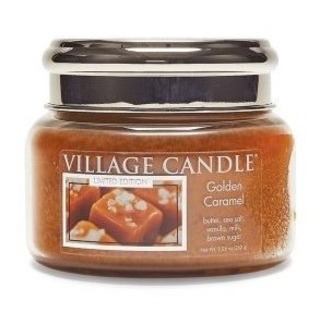 Village Candle Malá vonná svíčka ve skle Golden Caramel 262g - Zlatý karamel