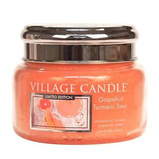 Village Candle Malá vonná svíčka ve skle Grapefruit Turmeric Tonic 262g - Osvěžující tonic