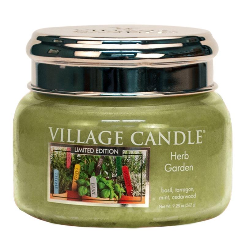 Village Candle Malá vonná svíčka ve skle Herb Garden 262g