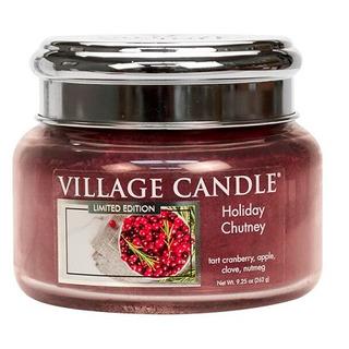 Village Candle Malá vonná svíčka ve skle Holiday Chutney 262g - Sváteční čatní
