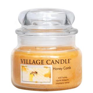 Village Candle Malá vonná svíčka ve skle Honey Comb 262g - Medový sen