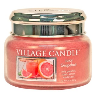 Village Candle Malá vonná svíčka ve skle Juicy Grapefruit 262g
