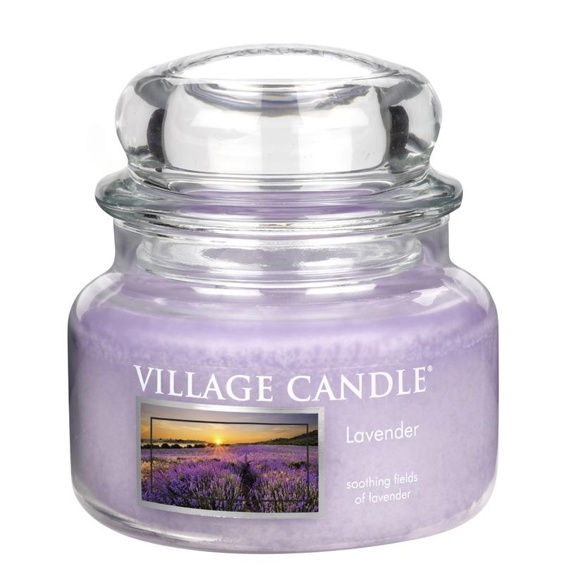 Village Candle Malá vonná svíčka ve skle Lavender 262g - Levandule