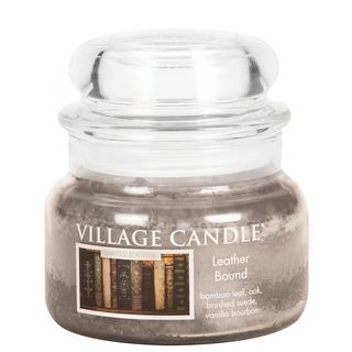 Village Candle Malá vonná svíčka ve skle Leather Bound 262g - Nádech minulosti