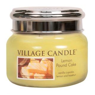 Village Candle Malá vonná svíčka ve skle Lemon Pound Cake 262g - Citronový koláč