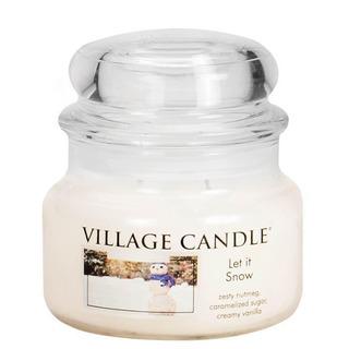 Village Candle Malá vonná svíčka ve skle Let it Snow 262g - Sněhová nadílka