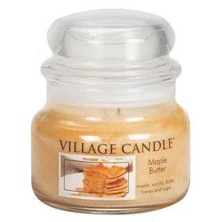 Village Candle Malá vonná svíčka ve skle Maple Butter 262g - Javorový sirup