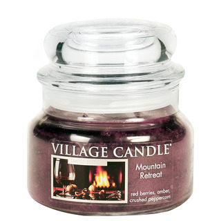 Village Candle Malá vonná svíčka ve skle Mountain Retreat 262g - Víkend na horách